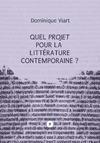 Livre numérique Quel projet pour la littérature contemporaine?