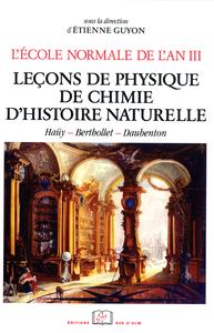 Livre numérique L'École normale de l'an III. Vol. 3, Leçons de physique, de chimie, d'histoire naturelle