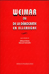 Livre numérique Weimar ou de la démocratie en Allemagne