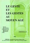 Livre numérique Le geste et les gestes au Moyen Âge