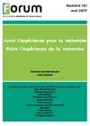 Livre numérique Forum 151 : Avoir l'expérience pour la recherche - Faire l'expérience de la recherche