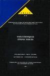 Livre numérique Voix éthniques, ethnic voices. Volume 1