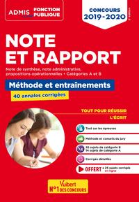 Livre numérique Note et Rapport - Méthode et entraînement - 40 sujets corrigés