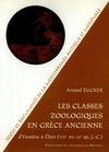 Livre numérique Les classes zoologiques en Grèce ancienne
