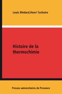 Livre numérique Histoire de la thermochimie
