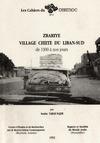 Livre numérique Zrariyé, village chiite du Liban‑Sud de 1900 à nos jours