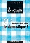Livre numérique le Sociographe n°11 : Quoi de neuf dans le domestique