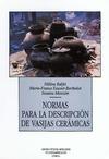 Livre numérique Normas para la descripción de vasijas cerámicas