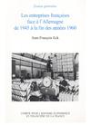 Livre numérique Les entreprises françaises face à l'Allemagne de 1945 à la fin des années 1960