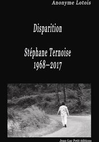 Livre numérique Disparition Stéphane Ternoise 1968-2017