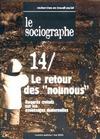 """Livre numérique le Sociographe n°14 : Le retour des """"nounous"""""""
