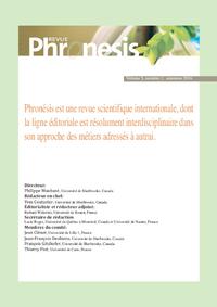 Livre numérique Phronesis. Vol. 5, numéro 2   2016