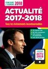 Livre numérique Actualité 2017-2018 - Concours et examens 2018