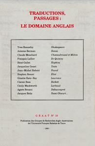 Livre numérique Traductions, passages : le domaine anglais