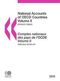 SET: Comptes nationaux des pays de l'OCDE 2010, Volumes IIa et  IIb, Tableaux détaillés