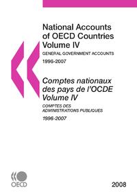 Comptes nationaux des pays de l'OCDE 2008, Volume IV, Comptes des administrations publiques