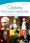 Livre numérique Citations historiques expliquées