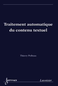 Livre numérique Traitement automatique du contenu textuel