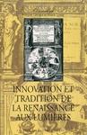 Livre numérique Innovation et tradition de la Renaissance aux Lumières