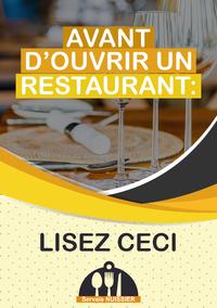 Avant d'ouvrir un restaurant?: Lisez ceci