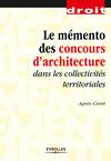Livre numérique Le mémento des concours d'architecture dans les collectivités territoriales