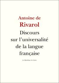 Livre numérique L'universalité de la langue française