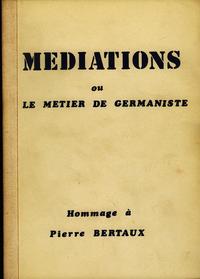 Livre numérique Médiations ou le métier de germaniste