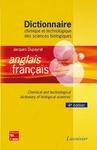 Livre numérique Dictionnaire chimique et technologique des sciences biologiques anglais/ français