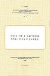 Livre numérique Exil de l'auteur, exil des genres