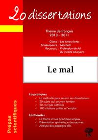 Livre numérique 20 dissertations avec analyses et commentaires sur le thème : Le mal - Giono, Les Ames fortes ; Shakespeare, Macbeth ; Rousseau, Profession de foi du vicaire savoyard