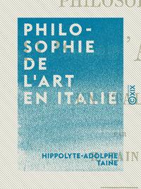 Philosophie de l'art en Italie, LEÇONS PROFESSÉES À L'ÉCOLE DES BEAUX-ARTS