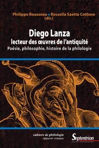 Diego Lanza, lecteur des œuvres de l'Antiquité