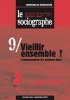 Livre numérique le Sociographe n°9 : Vieillir ensemble ? L'accompagnement des personnes âgées