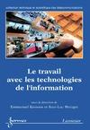 Livre numérique Le travail avec les technologies de l'information