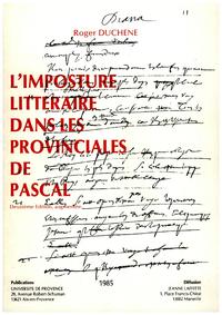 Livre numérique L'imposture littéraire dans les Provinciales de Pascal