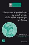 Livre numérique Remarques et propositions sur les structures de la recherche publique en France