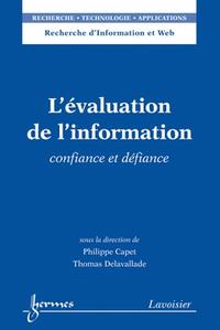 Livre numérique L'évaluation de l'information