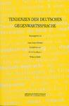 Livre numérique Tendenzen der deutschen Gegenwartssprache