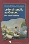 Livre numérique Le loisir public au Québec