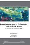 Livre numérique Expérimentations et évaluations en fouille de textes