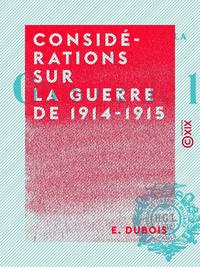 Considérations sur la guerre de 1914-1915