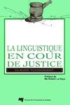 Livre numérique La linguistique en cour de justice