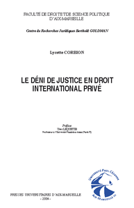 Livre numérique Le déni de justice en droit international privé