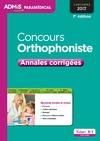 Livre numérique Concours Orthophoniste - Annales corrigées