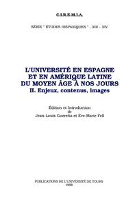 Livre numérique L'Université en Espagne et en Amérique Latine du Moyen Âge à nos jours. II
