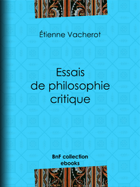 Essais de philosophie critique