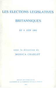 Livre numérique Les Élections législatives britanniques du 9 juin 1983