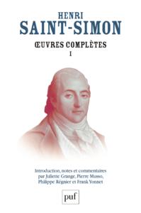 Œuvres complètes de Saint-Simon, Volume I