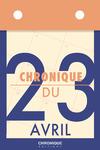 Livre numérique Chronique du 23  avril