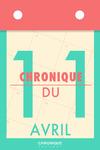 Livre numérique Chronique du 11  avril
